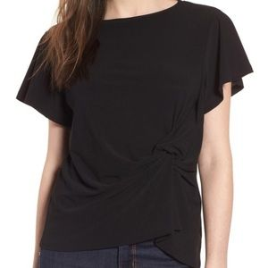 Leith Black Side Knot Tee